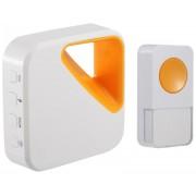OPTEX 990163 Bezdrátový designový barevný zvonek bílá/oranžová s dlouhým dosahem