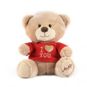 Archies ? Soft Toys - Cute Teddy Bear With Red Tshirt ? Cute & Romantic Valentine's Day Gift - (25 Cm)