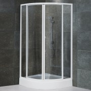 Box doccia semicircolare scorrevole 785 da 85 cm in cristallo 4 mm