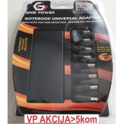 NPA-AC5D **Gembird laptop punjac AC 90W + QC3.0 mobilni punjac quick charge 3A, auto-voltage (1310)