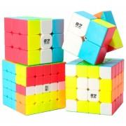 Set De 4 Cubos Rubik Shengshou Moyu Alta Velocidad