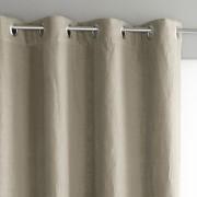 Am.pm Cortinado em linho lavado com forro, ilhós, PrivateLinho bruto- 140 x 180 cm