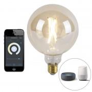 Calex Smart E27 LED G125 Gold 7W 806LM 1800K - 3000K