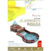 Puzzle 3D Cubicfun Basilica Sfantul Petru, 144 piese