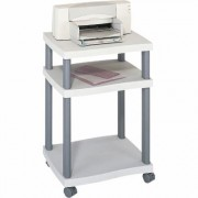 Mayline Safeco Wave Deskside Printer Stand - Gray, 20 Inch W x 17 1/2 Inch D x 29 1/4 Inch H, Model 1860GR