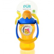 Pur Go'in Out Cup 8 oz/250 ml Yellow and Blue