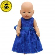 Princess 15 Colors Princess Dress Doll Clothes fit 43cm Baby Born Zapf Doll Clothes and Accessories D-20