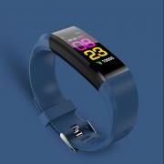 115 Plus Sports Color Screen Smart Bracelet Heart Rate/Blood Pressure Monitor IP67 Waterproof Activity Tracker - Blue