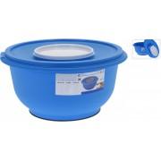 Bol Karll Int. din plastic, cu capac mic pentru amestecare, Y54100135, 5 litri, 29 x 29 x 15 cm, polipropilena, Albastru