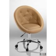 Elegáns guruló bárfotel, kozmetikus szék, fodrász szék, capuccino