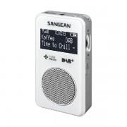 Hordozható DAB+FM RDS zsebrádió fülhallgatóval, fehér, DPR-34+ W