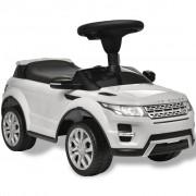 Електрическа кола Land Rover 348, бяла, с мелодии