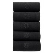 Mens Next N Logo Five Pack Socks - Black