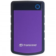 TRANSCEND USB HDD, StoreJet 25H3, 1TB, USB3.0, Rubber casing, Military-grade shock resistance, Quick Reconnect Button, Purple, 3 yrs TS1TSJ25H3P