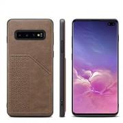 HUIXIANGJUAN-PHONE CASE Caja del teléfono de negocios Compatible con Galaxy S10 Plus Monedero caso de Samsung, de lujo superiores de la calidad super delgado de piel cubierta de la caja ranura Smartphone con la tarjeta Cubie