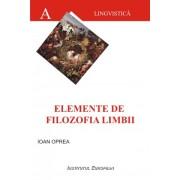 Elemente de filozofia limbii
