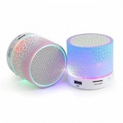 LED Bluetooth Speakers Mini Speaker S10 with Handsfree Calling FM Radio Bass Audio and SD Card Support (Multi-Color)