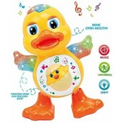 BABYKING Dancing Duck Toy with Real Dancing Action Music Flashing Lights Multi Color