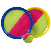 Velcro Toss And Catch Sports Game Set For Kids With Grip Mitts & Bean Bag Ball
