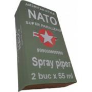 Set 2 bucati spray paralizant iritant lacrimogen autoaparare cu piper NATO 55 ml in cutie