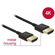 DeLock HDMI male/male összekötő kábel 3D 4K Slim Premium 3m Black 84774