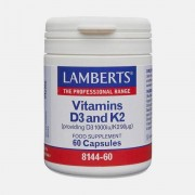 LAMBERTS VITAMINA D3 & K2 60 CAPSULAS