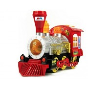 GRAPPLE DEALS Blowing Bubble Locomotive Train Bump And Go Battery Operated with Music, Lights, Includes Bubbles For Kids.