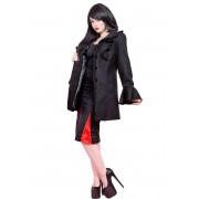 kabát női tavaszi / őszi HEARTS AND ROSES - felborzolt Sleeve Wool - 6444
