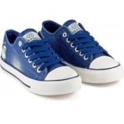 DeVEE Say Hello Navy Blue Denim Sneakers For Women(Navy, Blue)