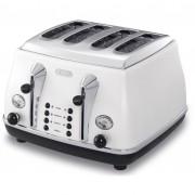 DeLonghi Icona Classic 4-slice toaster - Pearl White