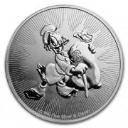 The New Zealand Mint stříbrná mince 2 Dollars Disney Scrooge McDuck Strýček Skrblík Niue 1 Oz 2018