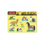 Puzzle cu sunete Animale de companie