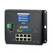 Planet Industrial L2 8-Port Gbe 2 Port SFP Wall Switch with LCD