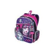Mochila Escolar Monster High 15z Gd 3bolsos Sestini