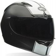 Bell Qualifier DLX Rally Casco Negro Blanco S