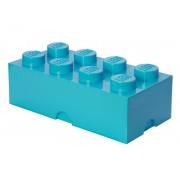 40041743 Cutie depozitare LEGO 2x4 albastru turcoaz