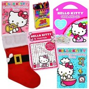 Hello Kitty Stocking Stuffer Coloring Book Sticker Set by ColorBoxCrate - 6 PACK - Includes Hello Kitty Activity Books, Hello Kitty Word Search, 140 Hello Kitty Stickers, Crayons for Children Ages 3-8