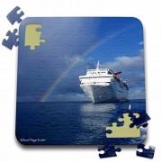Edmond Hogge Jr Rainbows - Cayman Island Rainbow on the Carnival Cruise Insperation - 10x10 Inch Puzzle (pzl_34554_2)