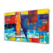 Tablou Canvas Premium Abstract Multicolor Culori Vii Decoratiuni Moderne pentru Casa 80 x 160 cm