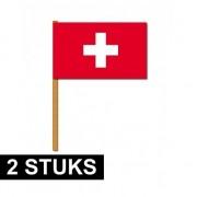 Geen 2x grote handvlaggetjes Zwitserland