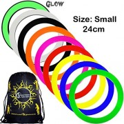 Mr Babache Pro Juggling Rings (Small-24cm) + 1x Flames N Games Travel Bag per order. Top Quality Rings For Juggling Ideal For All Ages & Levels of Skill! *PRICE IS PER RING. (Glow In The Dark)