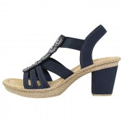 Sandale dama - bleumarin, Rieker - 665G8-14-Blue