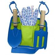 Family Games Little Moppet Kids Gardening Garden Tool Belt Kit, Blue