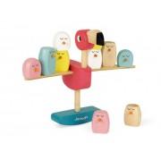 JANOD Gra balansowa drewniana Flamingi - drewniana gra zręcznościowa, klocki 3 lata +,