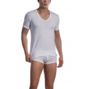Olaf Benz RED 1601 Low V Neck Short Sleeved T Shirt White 1-07419/1000