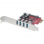 Tarjeta USB V3 PCI Express 4 Ptos