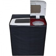 Glassiano Dark Gray Waterproof Dustproof Washing Machine Cover For semi automatic Godrej GWS 6203 PPD 6.2 Kg Washing Machine