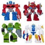 Playskool Heroes Transformers Rescue Bots Figure Set Of 4 Heatwave, Boulder, Optimus Prime & High Tide