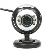 Omega WebCam C12SB 12Mpix + Micrófono Negro