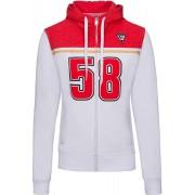 GP-Racing 58 Hoodie das senhoras Branco Vermelho M